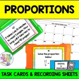 Proportions Task Cards & Record Sheets, CCS: 7.RP.A2