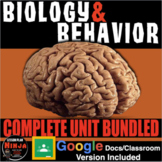 Psychology: Biology & Behavior Entire Unit Bundled: PPTs,
