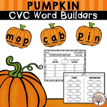 Pumpkin CVC Word Builders