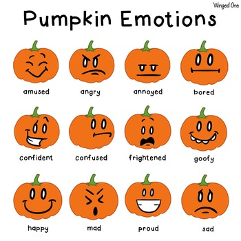 Pumpkin Emotions {Poster and Memory Game}