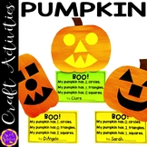 Pumpkin Glyph and Shape Craft (templates and step-by-step