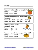 Pumpkin Math Exploration