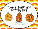 Pumpkin Math, Science and Literacy Mini Unit