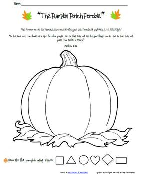 Pumpkin Patch Parable Follow Up Activities