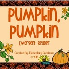 Pumpkin, Pumpkin Emergent Reader