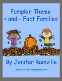 Pumpkin Theme Math Fact Families + and -