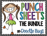 Punch Sheets / Printables { THE BUNDLE } ABC's, Numbers, C