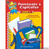 Punctuate & Capitalize: Grade 3 TCR3777