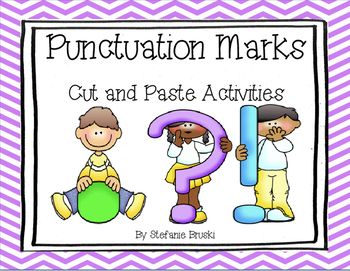 Punctuation Cut and Paste Activities