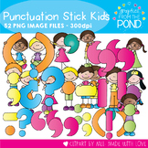 Punctuation Stick Kids - Clipart for Teaching