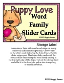Puppy Love Word Family Slider Cards