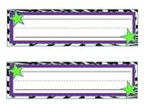 Purple Zebra Star Nameplates!