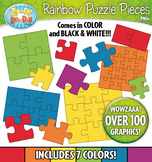 Puzzle Pieces Clipart — Over 30 Graphics!