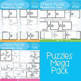Puzzles Mega Pack Clipart Set - Graphics From the Pond