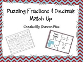 Puzzling Fraction & Decimal Match Up