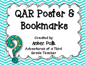 QAR Poster & Bookmark {FREEBIE}