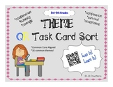 QR Activity: THEME task card game (3rd, 4th, 5th grades)
