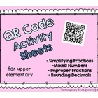 QR Code Math Activities (fractions and decimals)