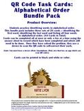 QR Code Task Cards: Alphabetical Order Bundle Pack