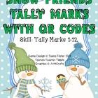 QR Codes - Snowy Friends Tally Marks Preschool Kindergarte