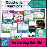Quadratic Function Resources Growing Bundle