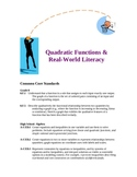 Quadratic Functions Real-World Literacy Lesson