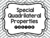 Quadrilateral Special Properties Poster Printed out & Laminated