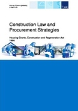 Quantity Surveying - Construction Law and Procurement Stra