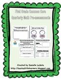 Quarterly First Grade Common Core Math Pre-assessments