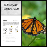 Spanish Question Guide for La Mariposa by Francisco Jimenez
