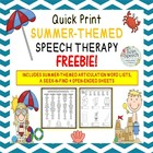 Quick Print Summer-Themed Open-Ended Speech & Language FREEBIE!