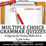 Grammar Proofreading Quizzes Multiple Choice, Various Skil