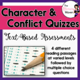 Quizzes on Conflict, Characterization, and Character Types