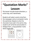 Quotation Mark Lesson using comics (8 pgs)