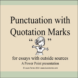 Quotation Marks Power Point Presentation