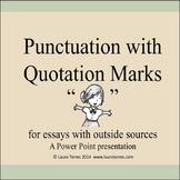 Quotation Marks Power Point Presentation
