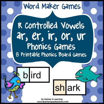 R Controlled Vowels Phonics Games ar er ir or ur