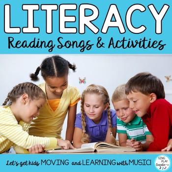 "READING SONGS * ""Read Across America"" *Literacy Center *Po"