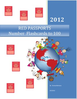 RED PASSPORTS - Number Flashcards to 100