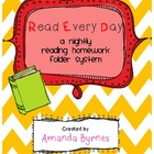 RED (Read Every Day) Reading Homework Folder System