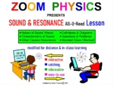 PHYSICS LESSONS: Sound Waves Doppler Effect Resonance Test