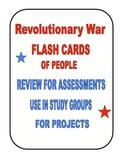 REVOLUTIONARY WAR FLASH CARDS