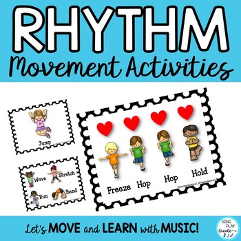 RHYTHM ACTIVITY 4 BEAT PATTERN  *PRINTABLES *DIRECTIONS *4