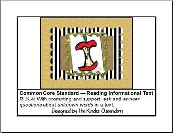 RI.K.4 Reading Informational Text Assessments