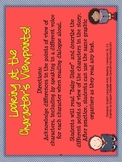 RL.2.6 Second Grade Common Core Worksheets, Activity, and Poster