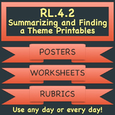 RL.4.2 Summarizing and Finding a Theme Printables