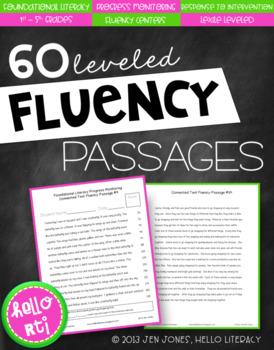 RTI: 60 Fluency Passages for Progress Monitoring Reading Skills & Interventions