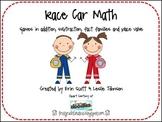 Race Car Math Games (Addition, Subtraction, Place Value)