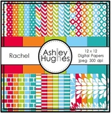 Rachel Paper Collection {12x12 Digital Papers for Commercial Use}