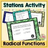 Radical Functions and Rational Exponents Stations Activity